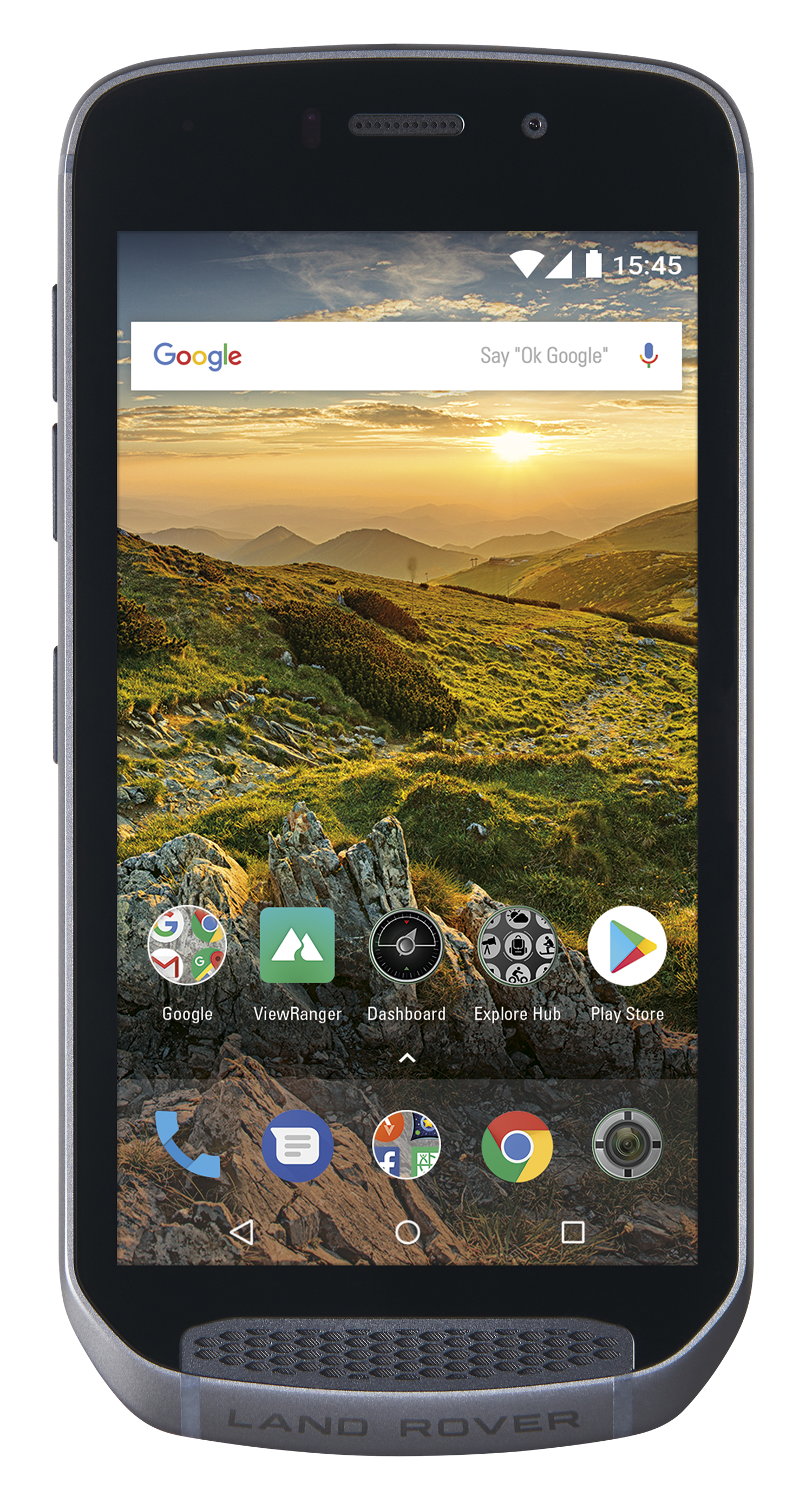 Home screen of Land Rover Explore phone