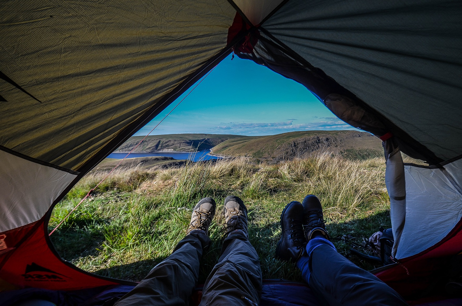 The view of wild camping @henwickcharlie | Land Rover Explore