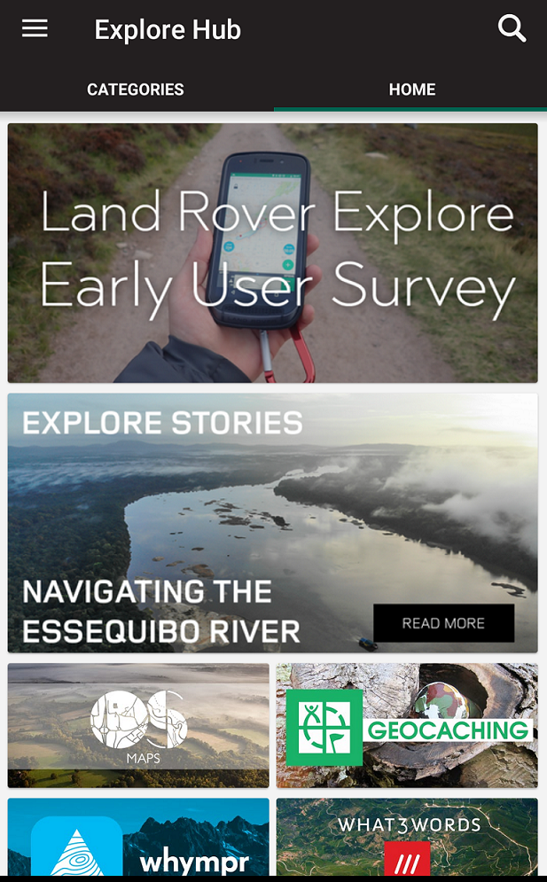 Explore hub | Land Rover Explore